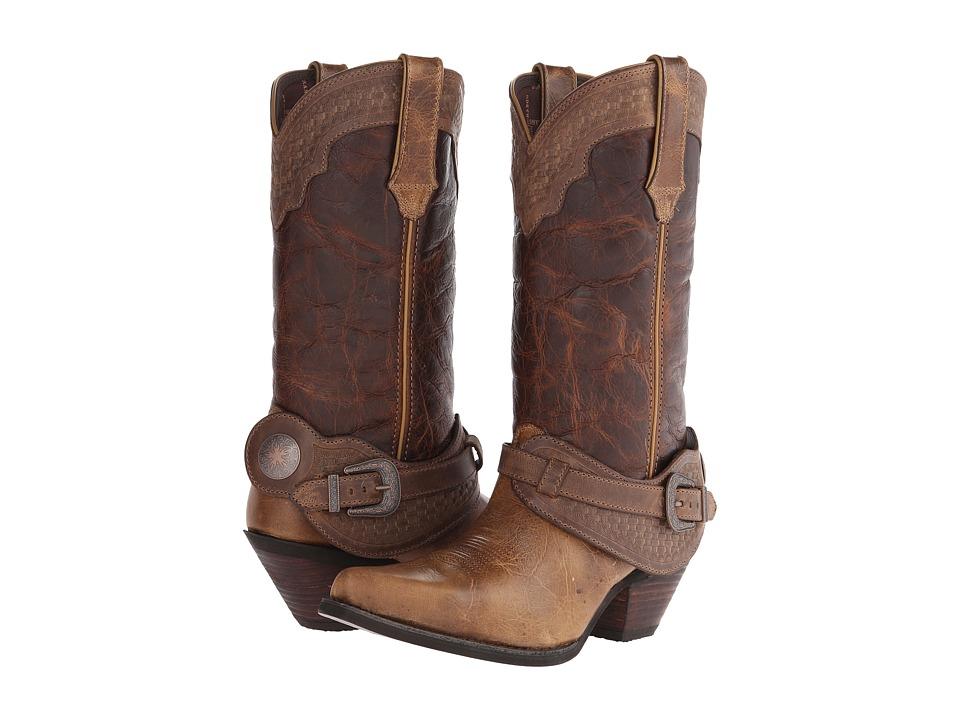 Durango Crush 12 Spur Strap Tan/Bridle Cowboy Boots