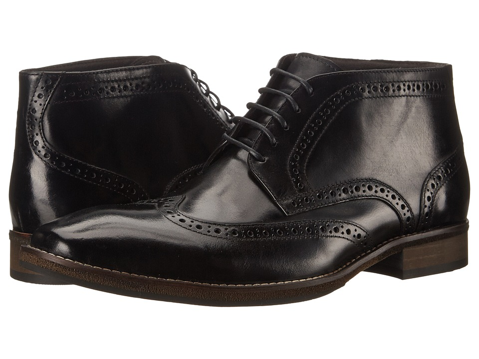 Steve Madden - Parcell Black Leather Mens Lace-up Boots $125.00 AT vintagedancer.com