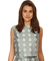 RED VALENTINO - Daisies Lurex Jacquard Top