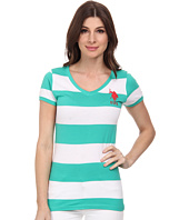 U.S. POLO ASSN. - Wide Stripe V-Neck T-Shirt