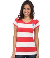 U.S. POLO ASSN. - Wide Stripe V-Neck T-Shirt