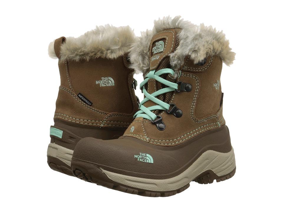 The North Face Kids McMurdo Boot (Toddler/Little Kid/Big Kid) (Spun Brown/Surf Green) Girls Shoes