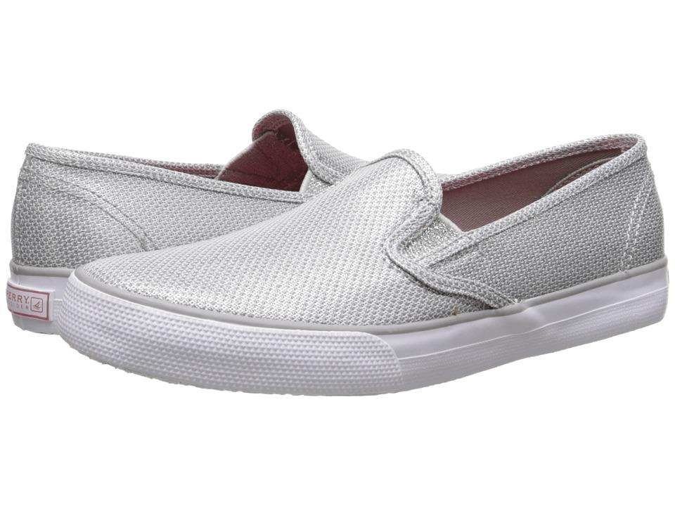 Sperry Top Sider Kids Seaside Little Kid/Big Kid Silver Girls Shoes