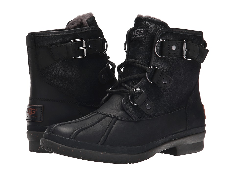 Ugg Cecile (Black Leather) Women's Boots