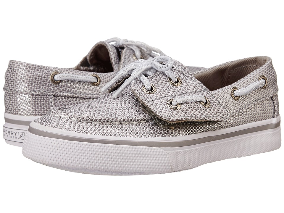 Sperry Top Sider Kids Bahama Jr. Toddler/Little Kid Silver Girls Shoes