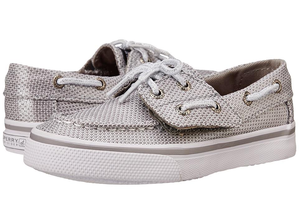 Sperry Top Sider Kids Bahama Jr. Toddler/Little Kid Silver Girls Shoes