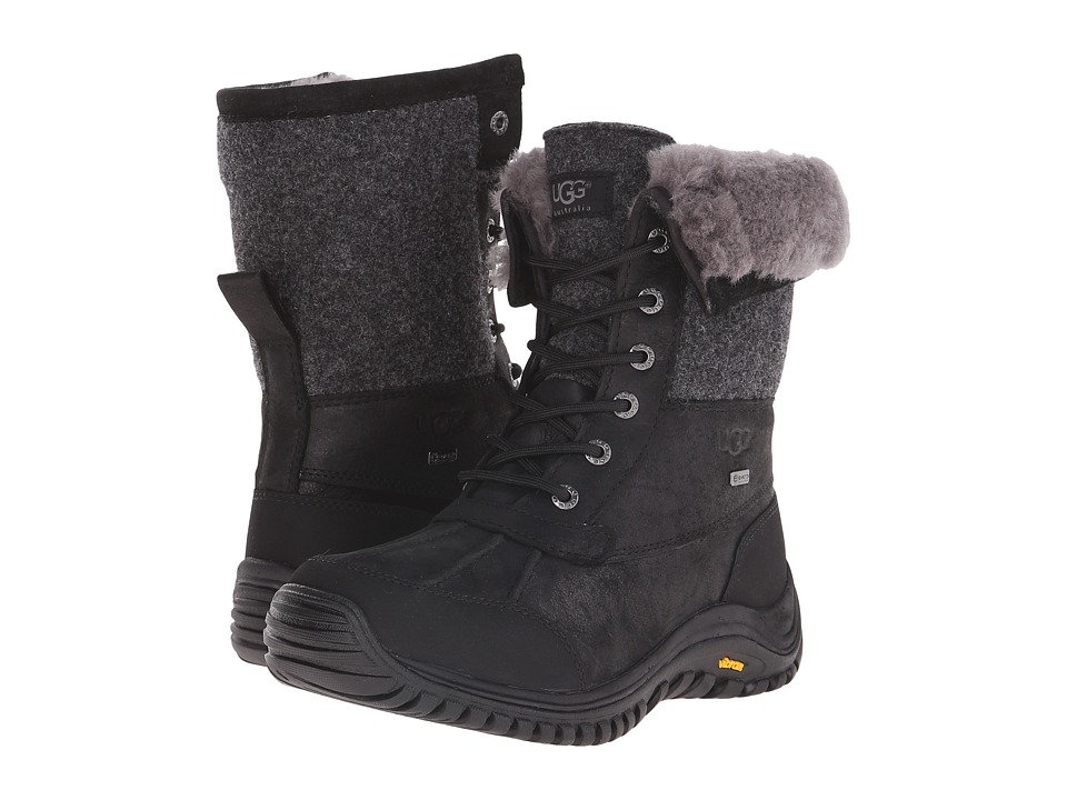 UGG - Adirondack Boot II (Black Leather) Women
