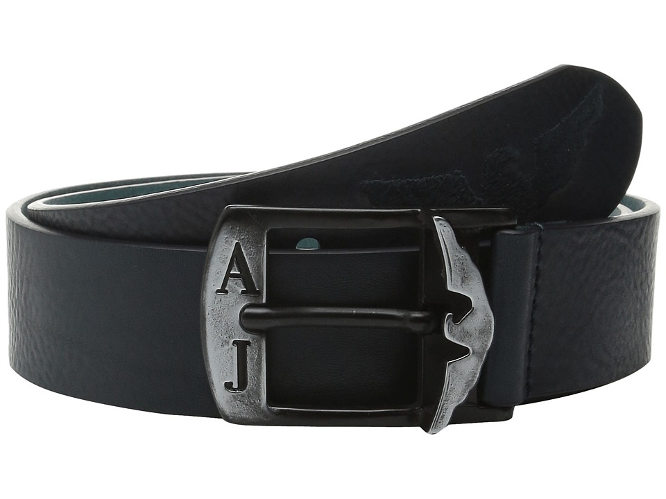 Armani Jeans AJ Eagle Printed Belt Blue Mens Belts