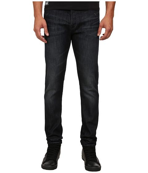 Armani Jeans Slim Fit J26 Blue Wash Denim in Dark Cotton Twill Wash