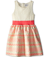 Us Angels - Sleeveless Lace Bodice w/ Jacquard Full Skirt (Big Kids)