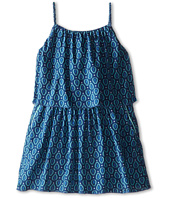 Chloe Kids - Runway Print Inspired Layered Woven Dress (Toddler/Little Kids)