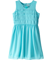 Us Angels - Sleeveless Chiffon Tucked Bodice w/ Full Skirt (Big Kids)