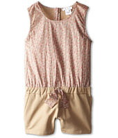 Chloe Kids - Liberty Print Front Terri Fleece Romper (Little Kids/Big Kids)