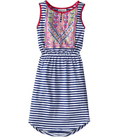 Us Angels - Sleeveless Stripe Jersey w/ Embroidered Bodice (Big Kids)
