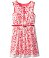 Us Angels - Sleeveless Lace Dress w/ Belt F. Skirt (Big Kids)