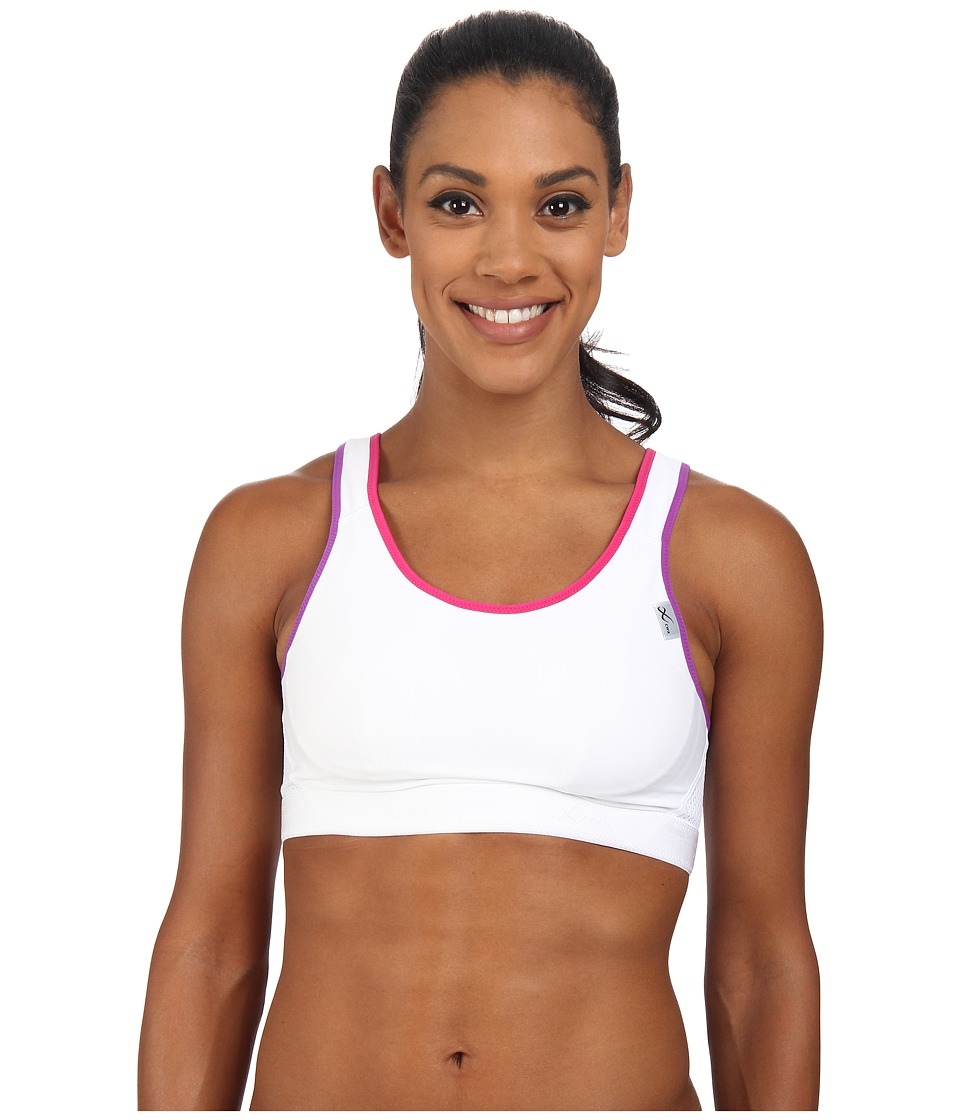 CW X Versatx Support Bra White/Pink/Purple Womens Bra