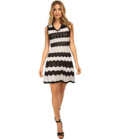 M Missoni - Zig Zag Ribbon V-Neck Dress