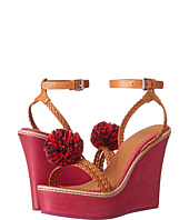 M Missoni - Leather Wedge with Pom Pom's