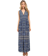 BCBGMAXAZRIA - Elyza Printed Sleeveless Long Dress