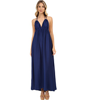 BCBGMAXAZRIA - Kamala Long Tie Neck Halter Dress