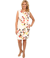 Vince Camuto Plus - Plus Size Sleeveless Broken Photo Floral Shift Dress