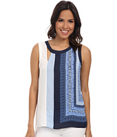 BCBGMAXAZRIA - Elicia Print Block Sleeveless Top