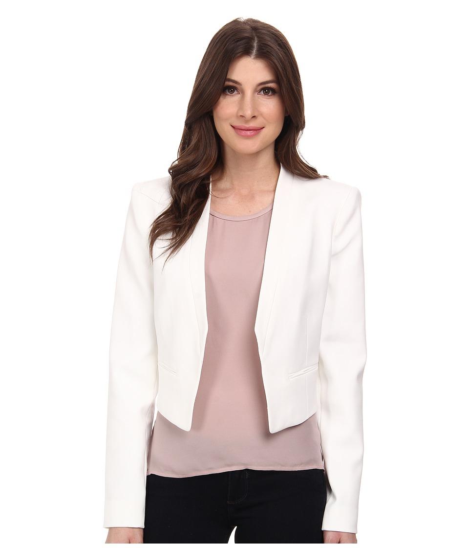 BCBGMAXAZRIA Bren Open Front Blazer (Off White) Women's Jacket