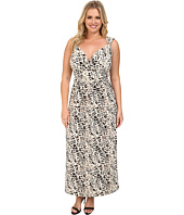 Vince Camuto Plus - Plus Size Sleeveless Leopard Maxi Dress w/ Hardware
