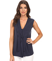 BCBGMAXAZRIA - Jessa V-Neck Top with Front Cascade
