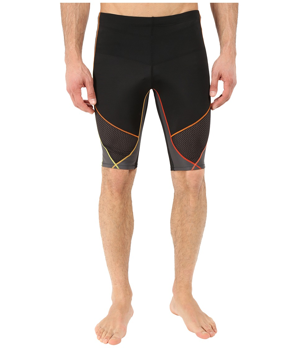 CW X Stabilyx Ventilator Short Black/Yellow/Orange Mens Shorts