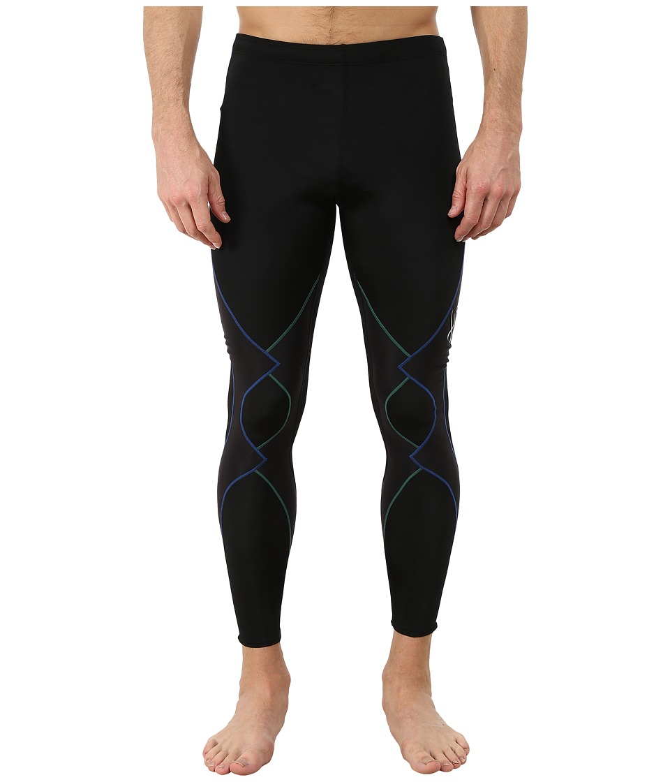 CW-X - Expert Tight (Black/Green/Blue) Mens Workout