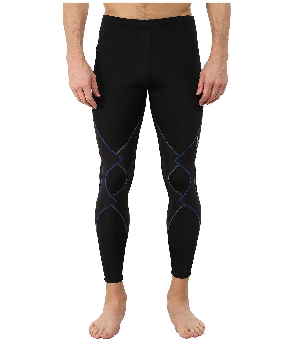 CW-X - Expert Tight (Black/Green/Blue) Mens Workout