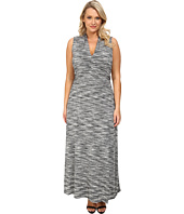 Vince Camuto Plus - Plus Size Space Dyed Halter Maxi Dress