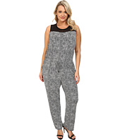 Vince Camuto Specialty Size - Plus Size Sleeveless Scale Imprint Jumpsuit