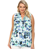 Vince Camuto Plus - Plus Size Sleeveless Floral Transit Blouse w/ Back Keyhole