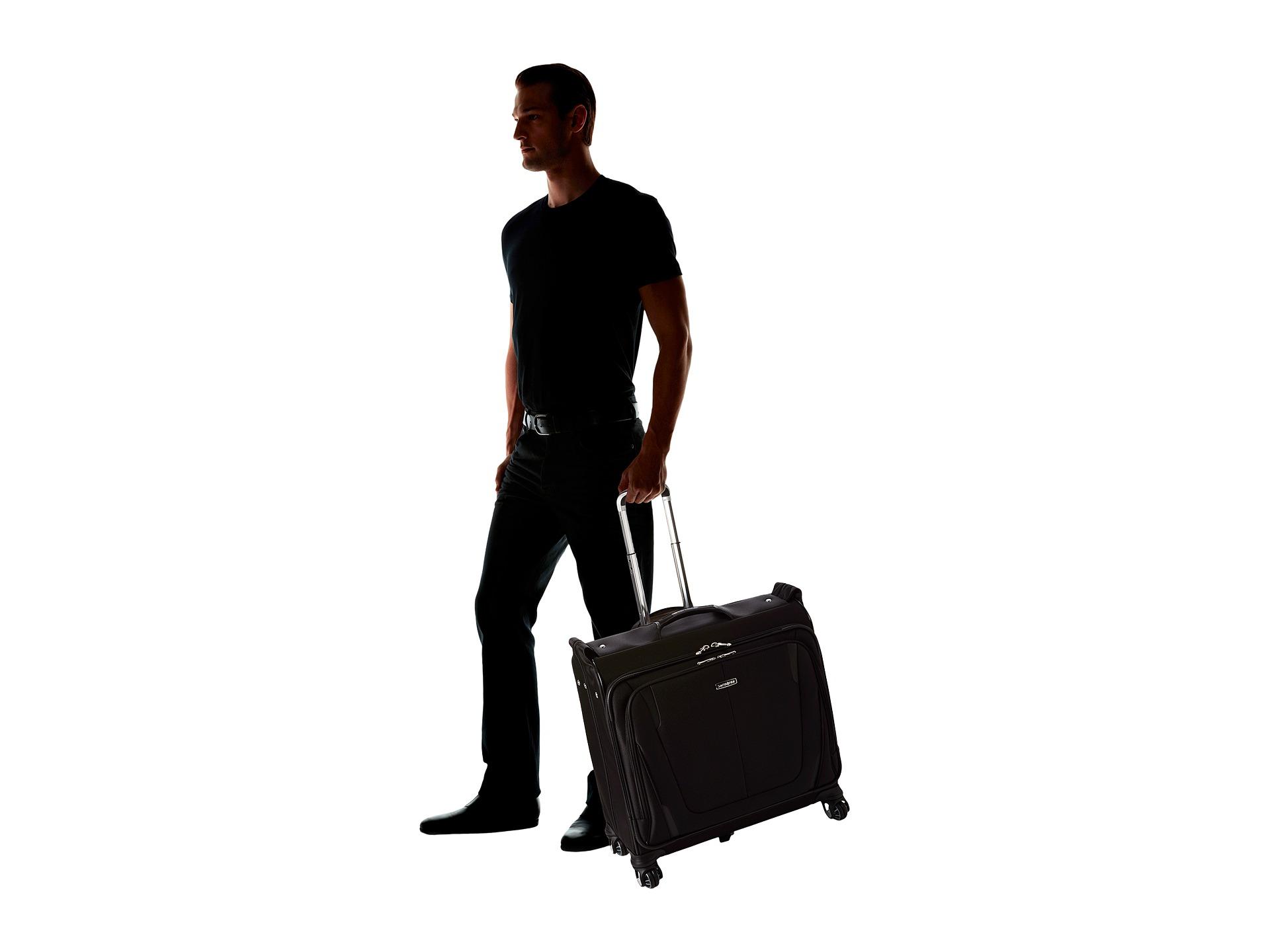 Samsonite silhouette sphere 2 deluxe voyager garment bag for Wedding dress garment bag for air travel