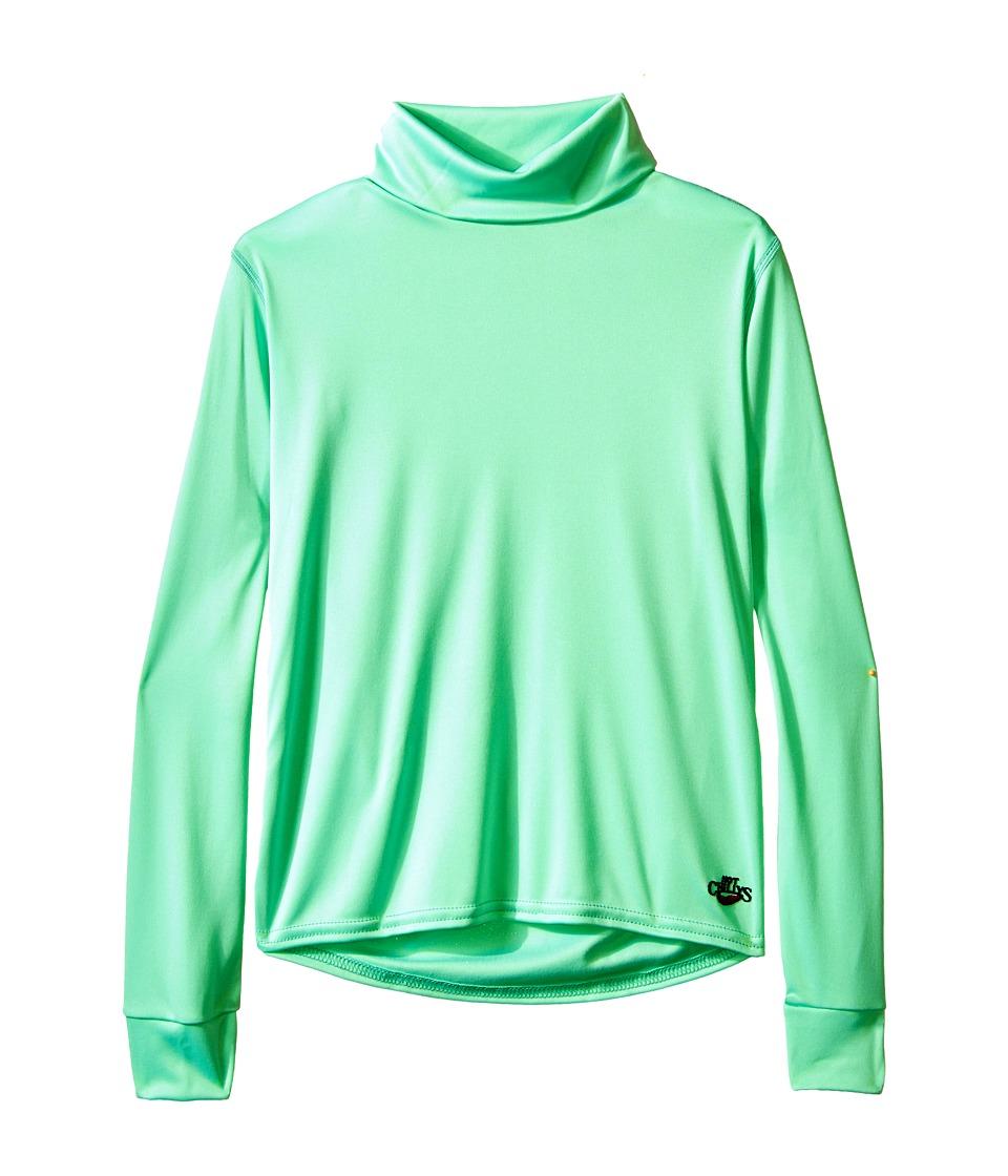 Hot Chillys Kids Peachskin Turtleneck Little Kids/Big Kids Spring Green Kids Clothing