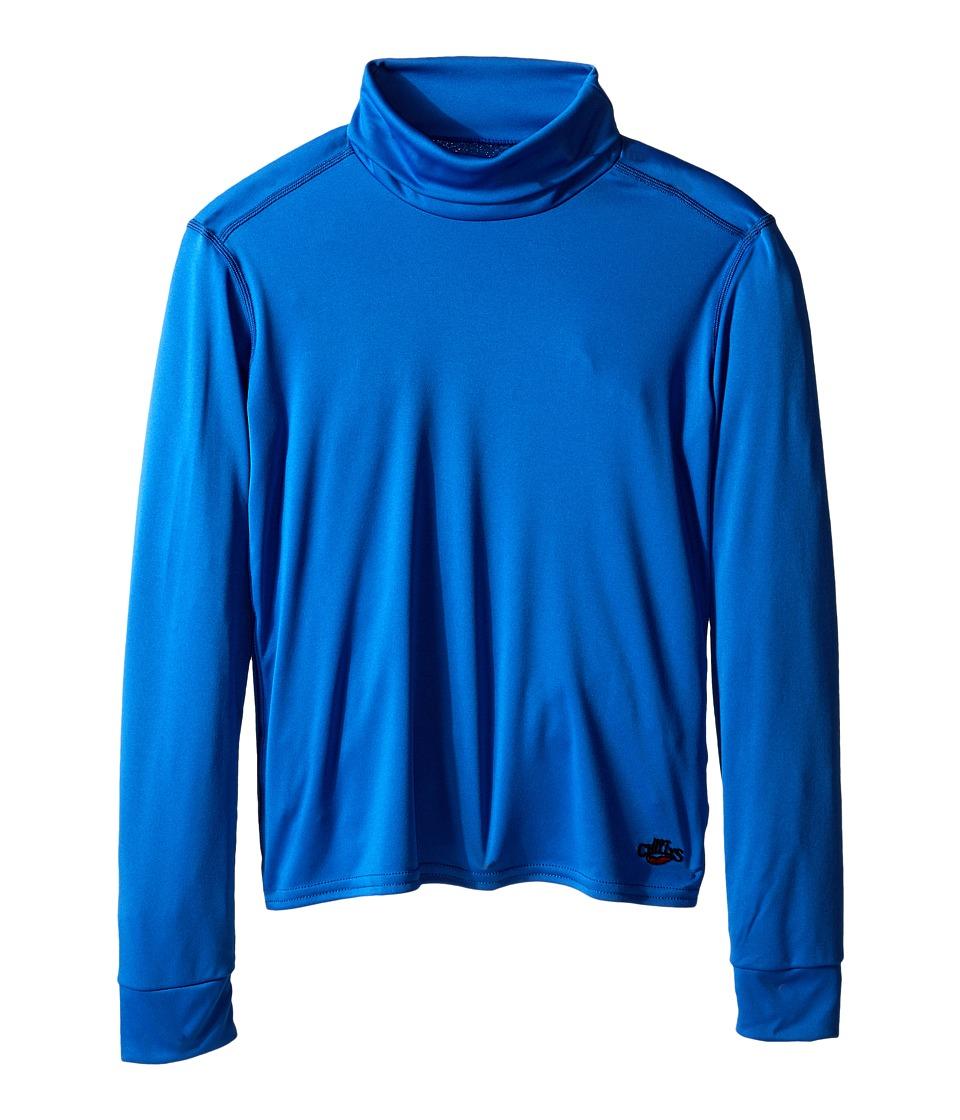 Hot Chillys Kids Peachskin Turtleneck Little Kids/Big Kids Vivid Blue Kids Clothing