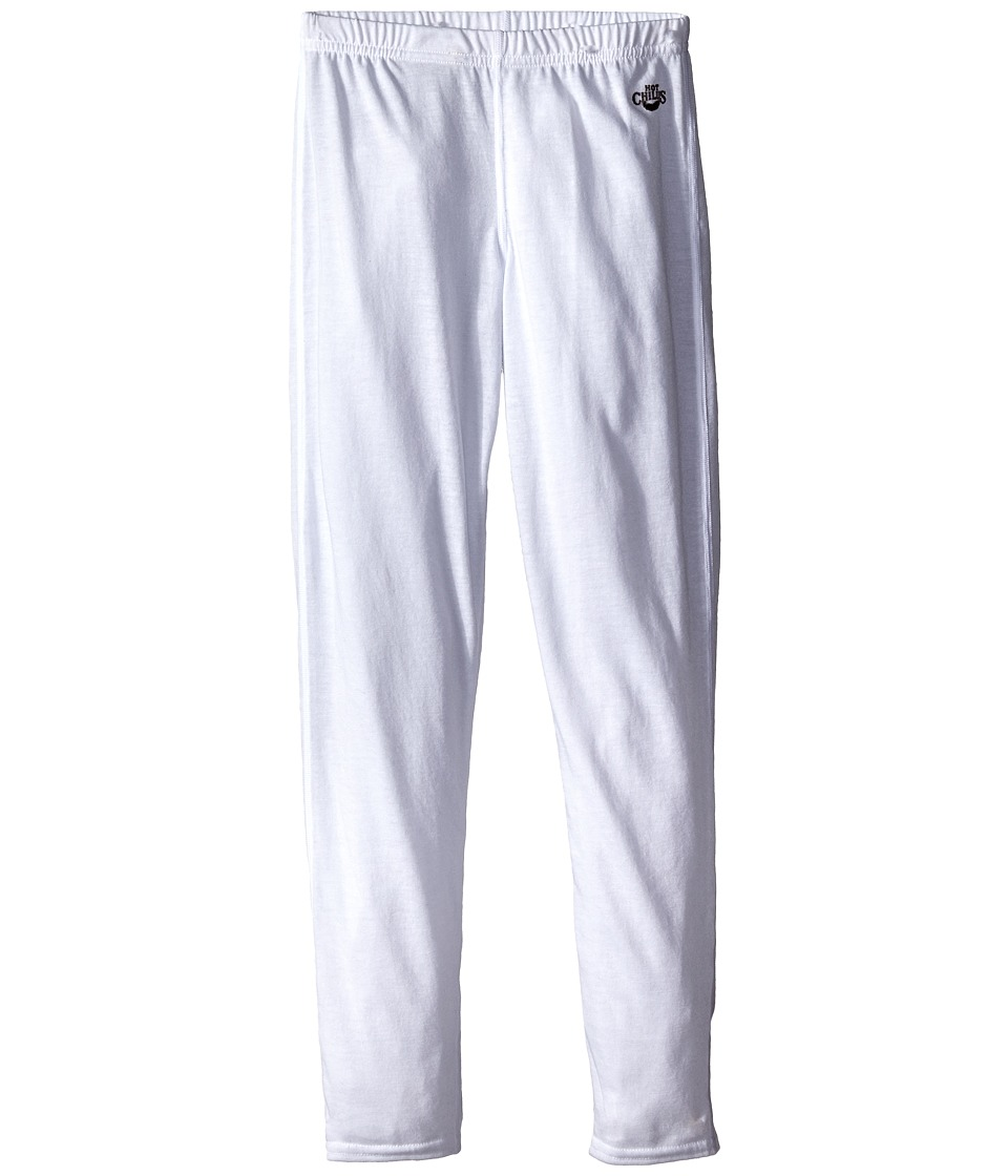 Hot Chillys Kids - Midweight Bottom (Little Kids/Big Kids) (White) Kids Casual Pants