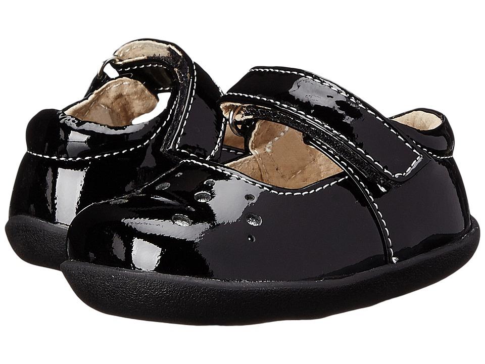 See Kai Run Kids Manami Infant/Toddler Black Patent Girls Shoes