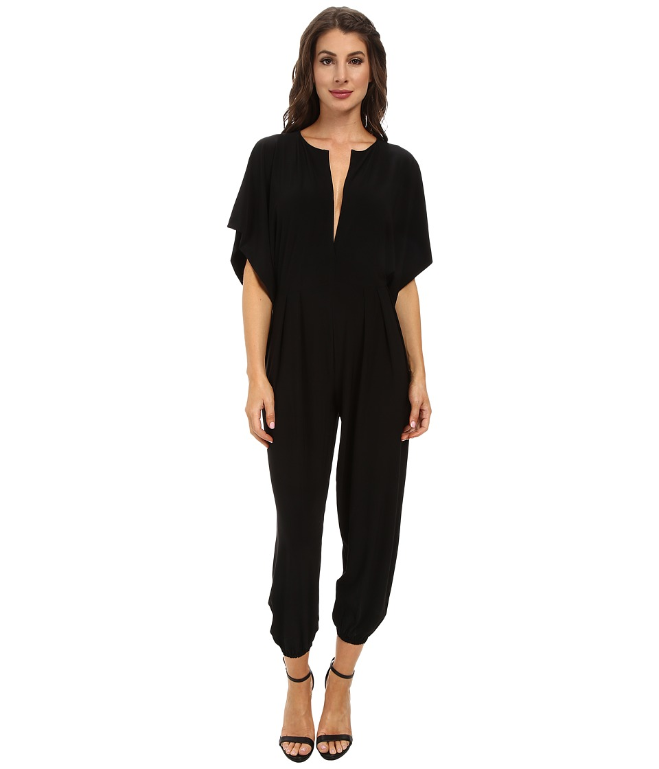 KAMALIKULTURE by Norma Kamali - Rectangle Jog Jumpsuit (Black) Womens Jumpsuit & Rompers One Piece