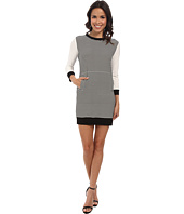 KAMALIKULTURE by Norma Kamali - Spliced Long Sleeve Sporty Dress