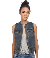 Free People - Rugged Ripped Denim Lace Up Vest