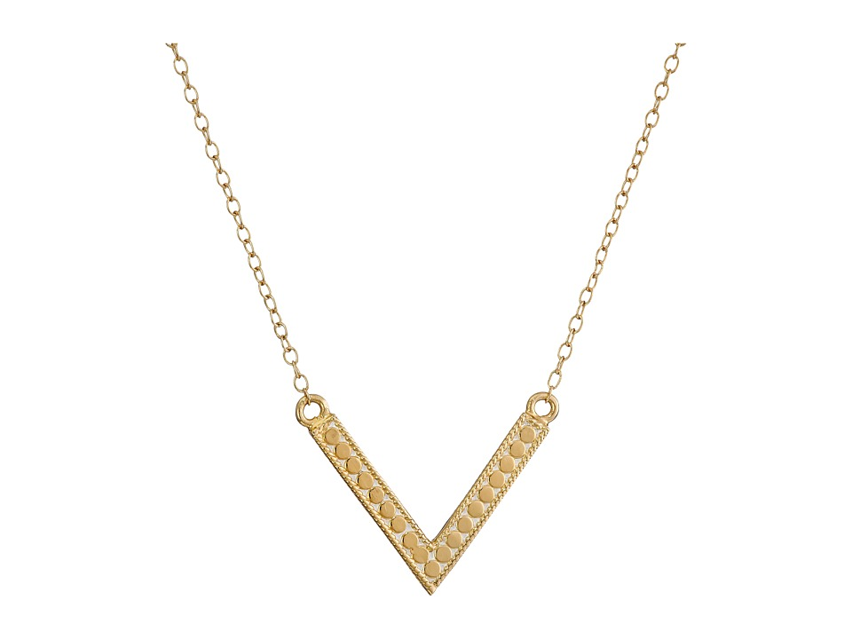 Anna Beck V Necklace Sterling Silver/18K Gold Vermeil Necklace