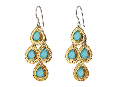 Anna Beck Large Turquoise Teardrop Earrings Sterling ...
