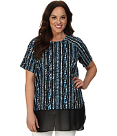 DKNYC - Plus Size Chiffon Double Layer Blouse