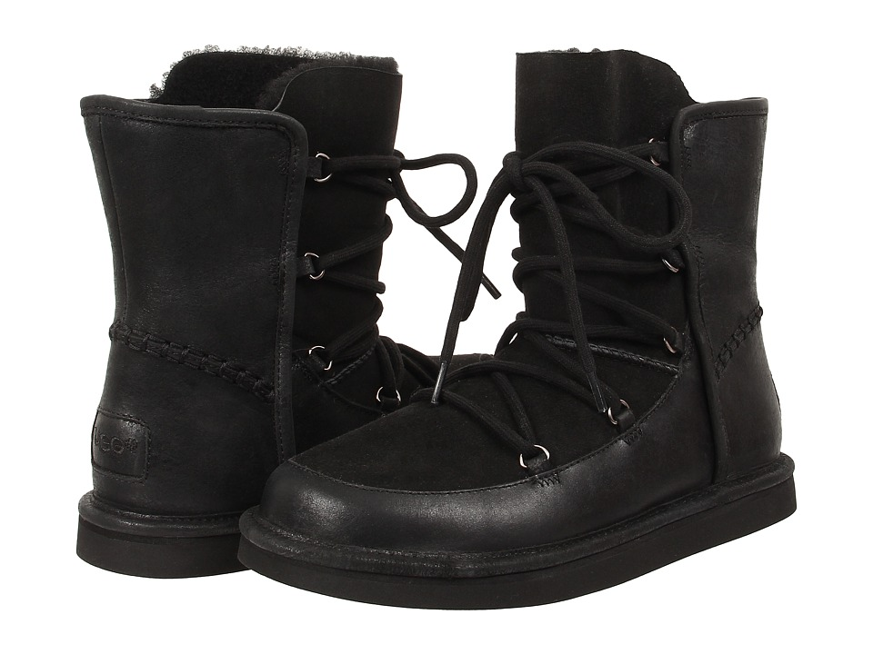 UGG Lodge (Black Leather) Women