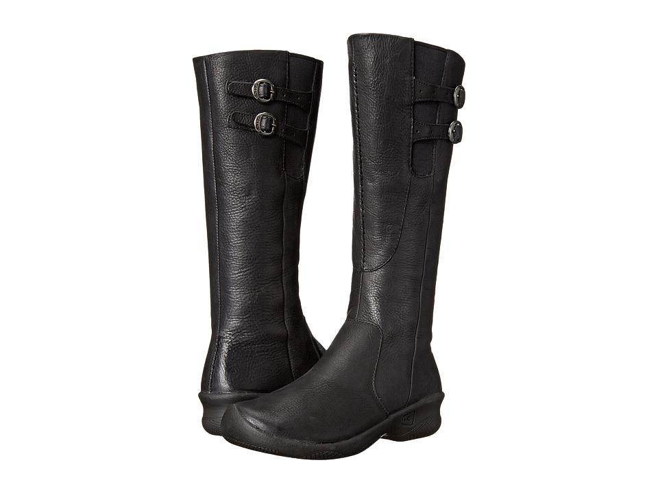 Keen Bern Baby Bern Boots (Stark Black) Women's Zip Boots
