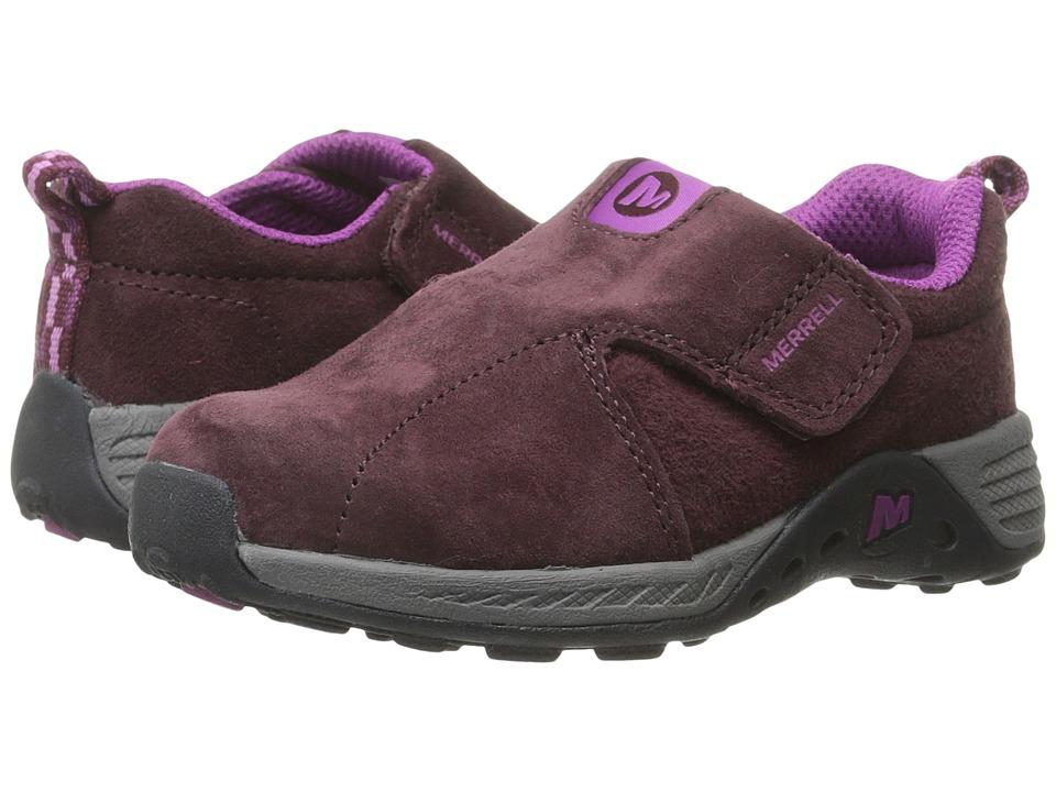 Merrell Kids Jungle Moc Sport A/C Toddler Berry/Grey Girls Shoes