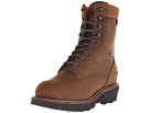 9 Rip Saw Soft Toe Waterproof Insulated Logger (Brown Distressed Leather)